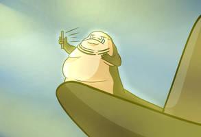 Jabba the hutt having Wifi problems by JeisherIra