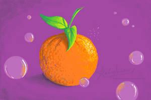Purple Orange by hotpinkscorpion