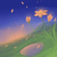 Orange Flowers by hotpinkscorpion