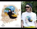Selfie T shirt print - commish by hotpinkscorpion
