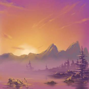 Orange Pink sunset by hotpinkscorpion