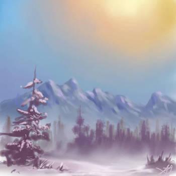 Warm Wintery Skies by hotpinkscorpion