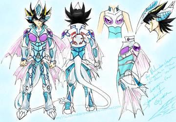 Stardust Dragon Gijinka design by slifertheskydragon