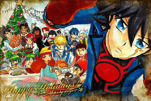 Happy Holidays Yugioh 5D's by slifertheskydragon