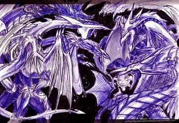 kiriban +War of 5DX Dragons+ by slifertheskydragon