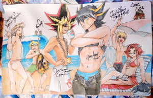 Handdrawn Yugioh Playmat signed @ YCS Rhode Island by slifertheskydragon