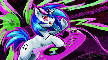 Vinyl Scratch - Let's Party! by slifertheskydragon