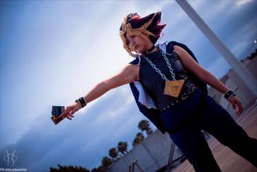 Yugioh cosplay - Yami Yugi by slifertheskydragon