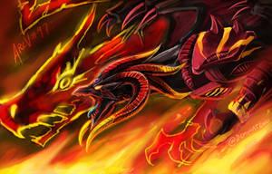 Red Demons Dragon Tyrant by slifertheskydragon
