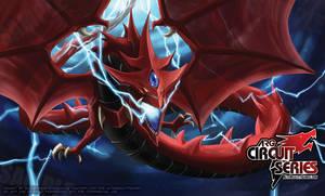 slifer the sky dragon playmat for ARG by slifertheskydragon