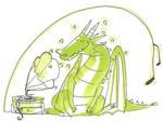 Musical dragon by Lahara