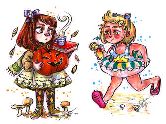 October chibies by Lahara