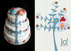 Weddingcardcake by Naera