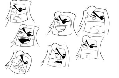 Hoss Delgado Expression Sheet by RobertMisirian