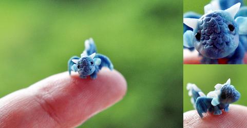 Chibi Dragon Micro Sculp by wibblequibble
