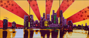 sunset_skyline_premium_print by jois85