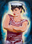 Sailor Drea Stencil Version by jois85