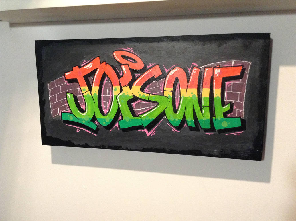 Jois One on wood panel by jois85