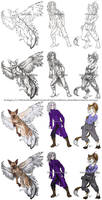 Commission Examples by ShadowPhoenixStudios