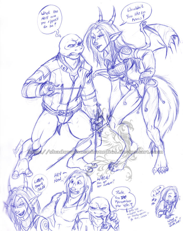 WTF - Rapheal Vs. Huntress by ShadowPhoenixStudios