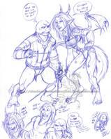 WTF - Rapheal Vs. Huntress by ShadowPhoenixStudios