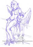 Freebie Sketch - Rose Grosbeak by ShadowPhoenixStudios