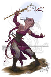 Commission: Tiefling Sorceress by ShadowPhoenixStudios