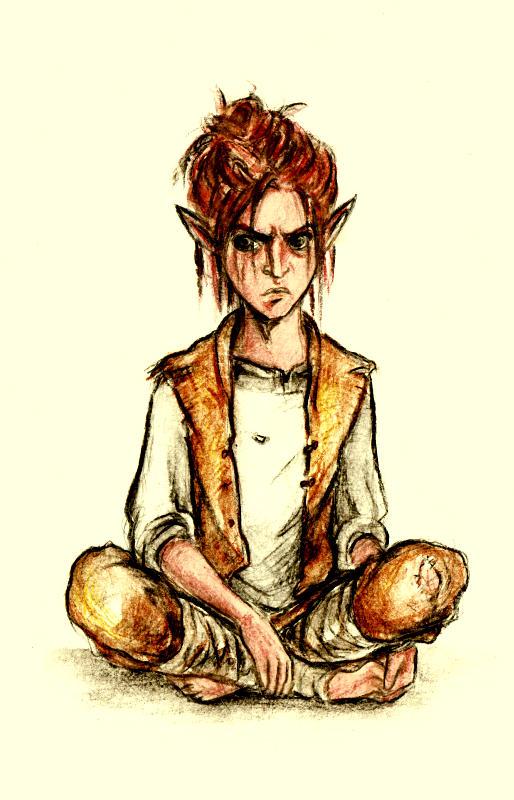 Grumpy elven kid by Meisiluosi