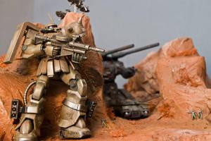 One-Year War Diorama by HobbyV