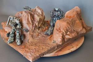 One-Year War Diorama 2 by HobbyV