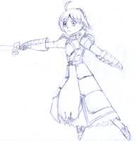 Saber sketch by frolka