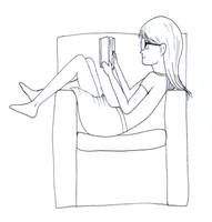 Reading sketch by frolka