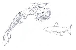 Reading Mermaid by frolka