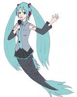 Mermaid Miku by frolka