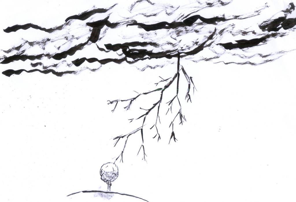 Inktober 2018 - thunder by frolka