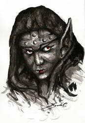 Tamika a Necropolis hero (HoMM3 fanart) by CyanBerryy