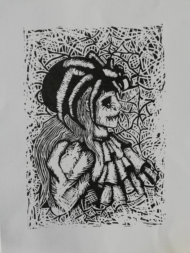 Pomroka, lino by CyanBerryy
