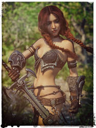 Impossible Generic Female Warrior Chick by jakiblue