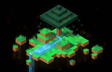 Minecraft in Hexels by BonkiHart