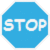 Blue Stop Sign by enodgnikcuf