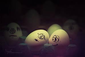 eggs in love... by nowaryesblack