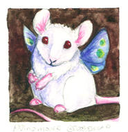 Albino mouse by JessicaMDouglas