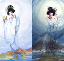 Sun and Moon (older work) by JessicaMDouglas