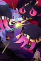 Mega Banette and Hex Maniac by kafuka5364