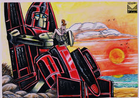 Powerglide and Astoria Colored by wondermanrules