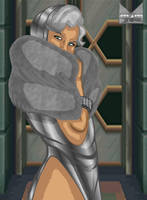 Silver Sable on the town by wondermanrules