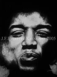 Jimi Hendrix by Kalasinar