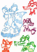 Scrat Sketches 1 by Soul-of-Winter