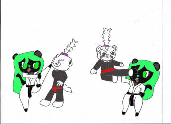Hartley and minty's light karate match WIP by Demotan