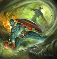 Captain America by DaveDeVries